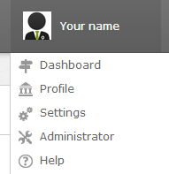 Configuring the platform as an admin